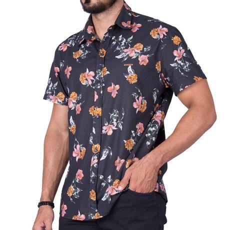 Camisa-Manga-Curta-Adulto-Biarritiz-Two-Azul-Marinho-