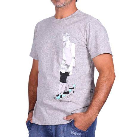 Camiseta-Manga-Curta-Adulto-Aventura-Pai-e-Filho-Mescla-Cinza