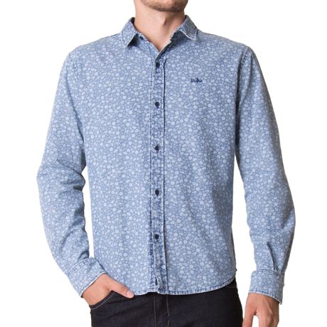 Camisa-Manga-Longa-Adulto-Hari-Azul-