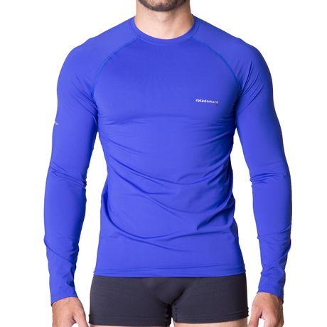 Camiseta-Manga-Longa-Masculina-Com-Protecao-UV-50--Azul