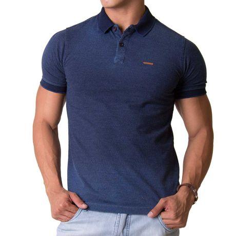 Camisa-Polo-Jacquard-Two-Azul-Denin