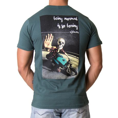Camiseta-Manga-Curta-Adulto-Being-Normal-Is-So-Boring-Verde-Escuro