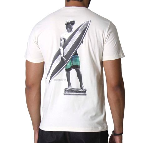 Camiseta Manga Curta Adulto David In Surf Bege