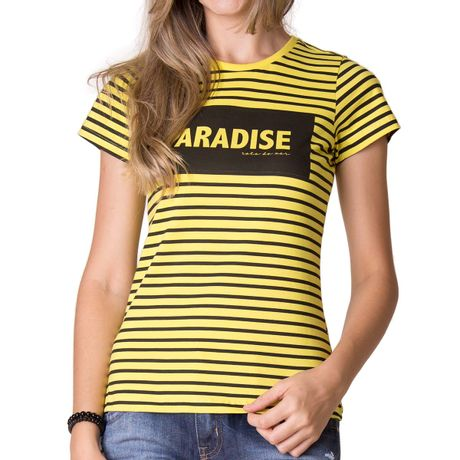 301674-camiseta-feminina-paradise-rtdmar-amarelo-frente