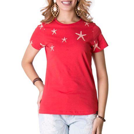 Camiseta-Manga-Curta-Feminina-Leve-Vermelho-