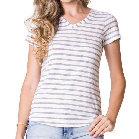 Camiseta-Manga-Curta-Feminina-Linear-Cinza-