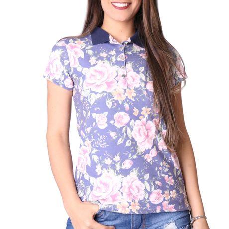 Camisa-Polo-Feminina-Primavera-Azul