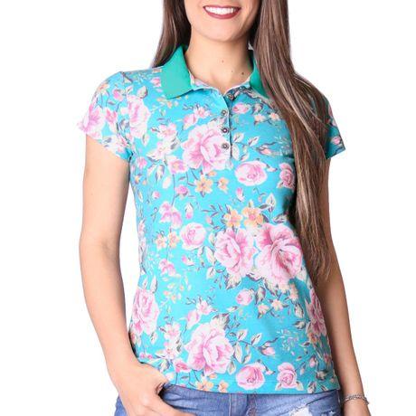 Camisa-Polo-Feminina-Primavera-Verde