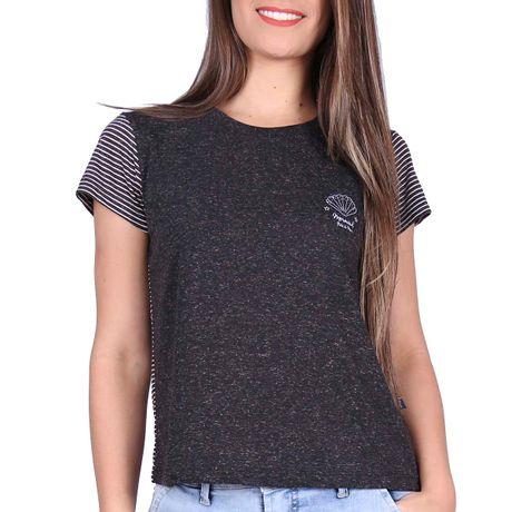 Camiseta-Manga-Curta-Feminina-Mermaid-Preto