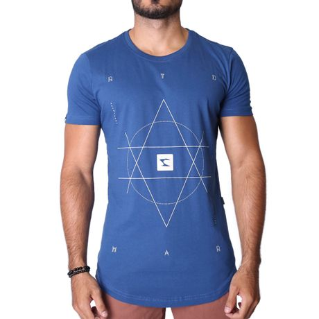Camiseta-Longline-Futurism-Azul