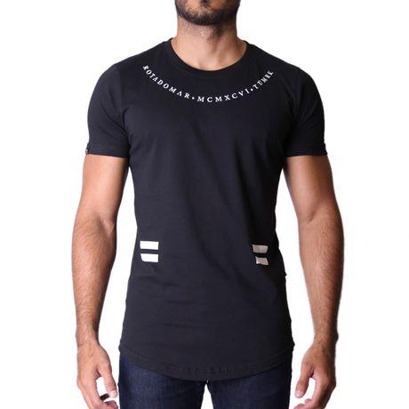 Camiseta-Longline-Brooklyn-Preto