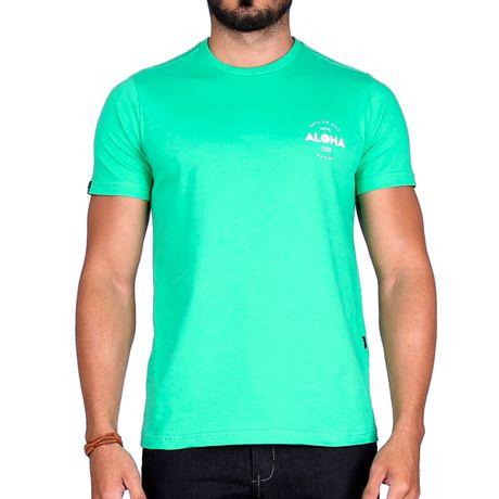 Camiseta-Manga-Curta-Adulto-Aloha-Verde