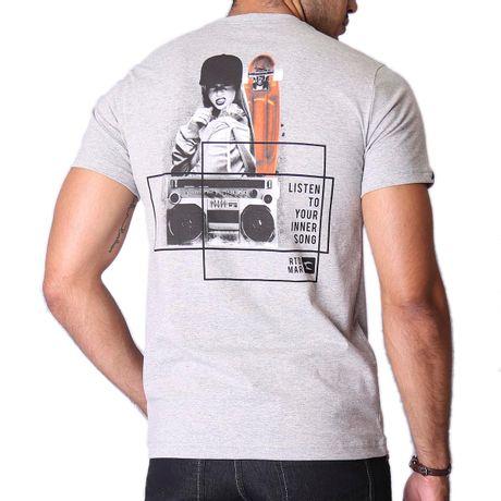 Camiseta-Manga-Curta-Adulto-Listen-To-Your-Inner-Song-Mescla-Cinza