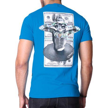 Camiseta-Manga-Curta-Adulto-Make-Dollars-Azul-Royal