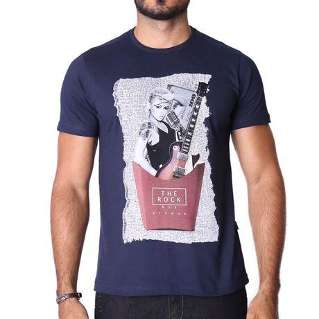 Camiseta-Manga-Curta-Adulto-MC-Rock-Azul-Marinho