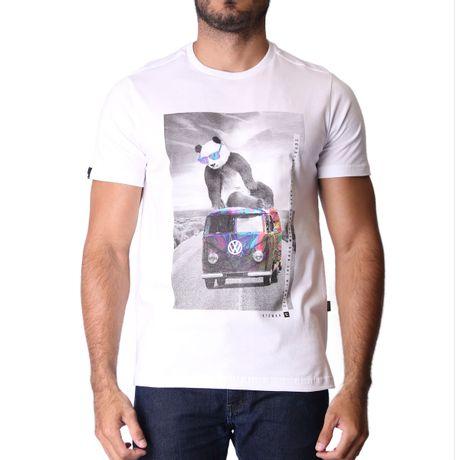 Camiseta-Manga-Curta-Adulto-Psychedelic-Panda-Branco