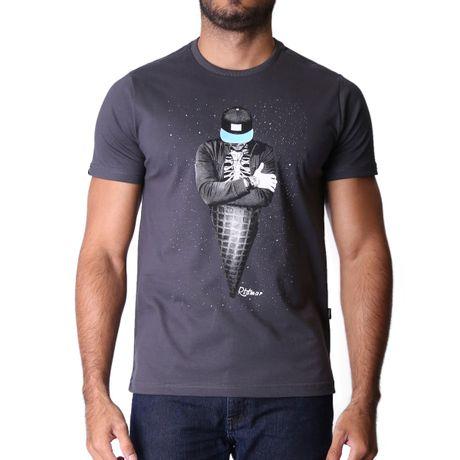 Camiseta-Manga-Curta-Adulto-Skull-Cream-Cinza