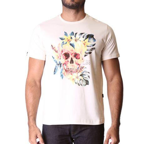 Camiseta-Manga-Curta-Adulto-Watercolor-Bege