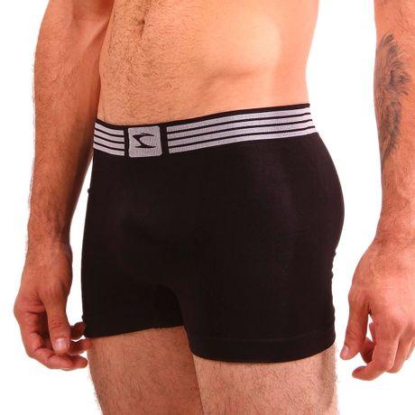 Cueca-boxer-sem-Costura-Logo-Elastico-Preto-