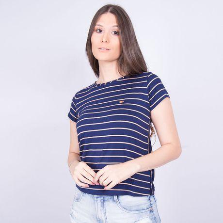 Camiseta-Feminina-Listrada-Atlantica-Azul-Marinho