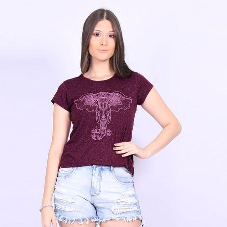 Camiseta-Feminina-Elefante-Vibes-Roxo