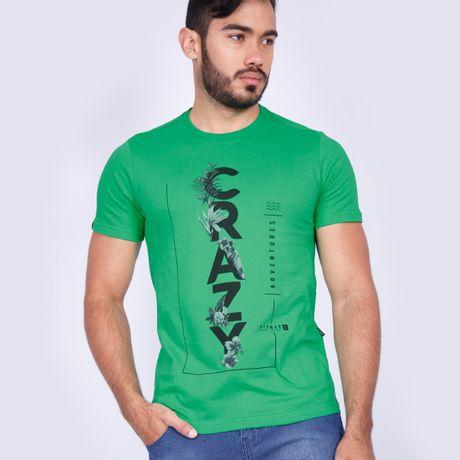 Camiseta-Manga-Curta-Crazy-Verde