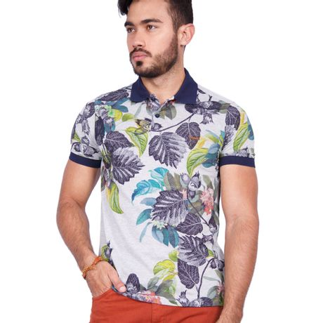 Camisa-Polo-Floresta-Tropical