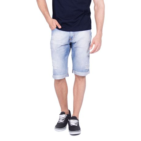 Bermuda-Jeans-Slim-Fit-Destroyed