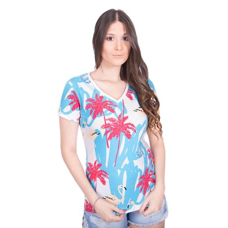 Camiseta-Estampa-Flamingos-Tropical-