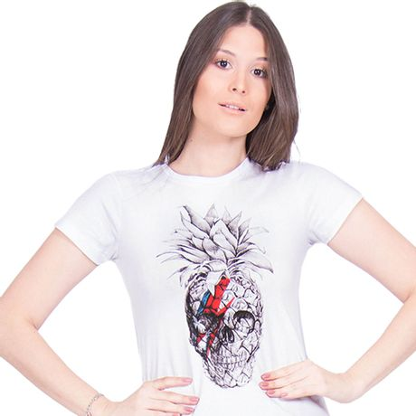 Camiseta-Estampa-Pineapple-Skull