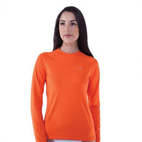 3d0f5f1435 Camiseta Manga Longa Feminina Com Proteção UV 50+