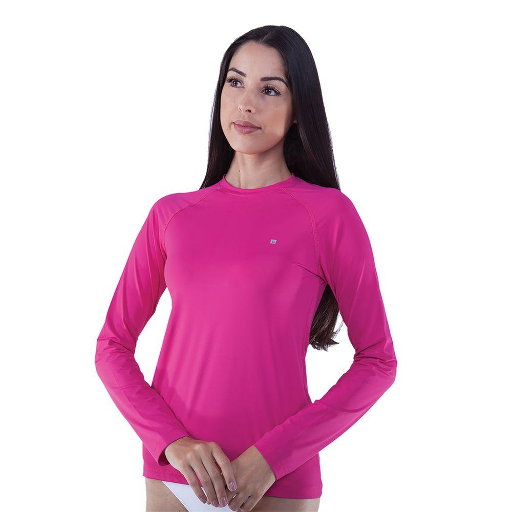 2467e95d1 Rota do Mar · Proteção Solar · Camiseta UV. 301455-Camiseta -manga-longa-feminina-com-protecao-rosa ...