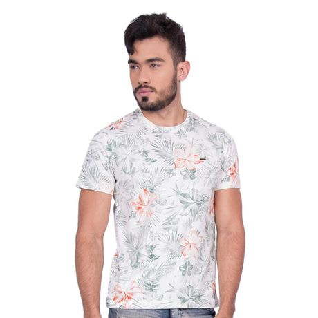 Camiseta-Manga-Curta-Hibisco-Tropical