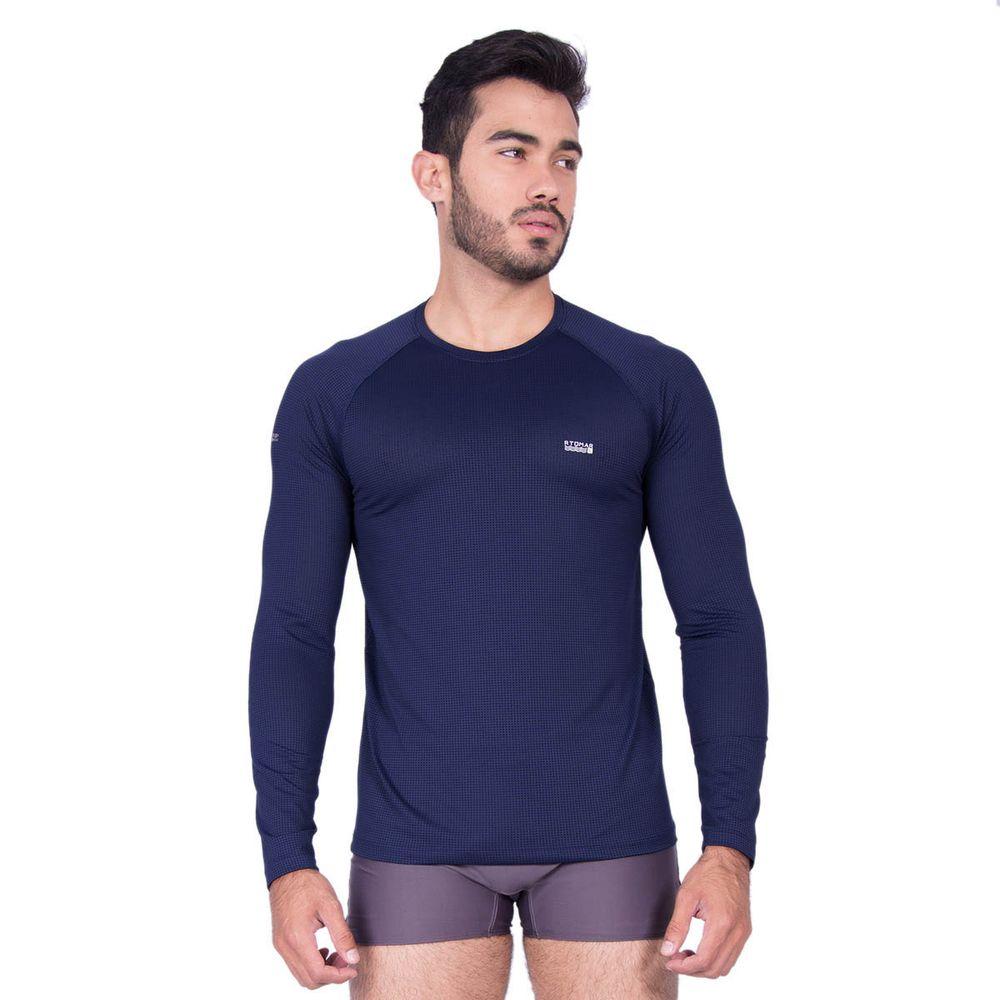 Camiseta Manga Longa Masculina Com Proteção UV 50+ Dry - Rota do Mar 1a550656e0aca