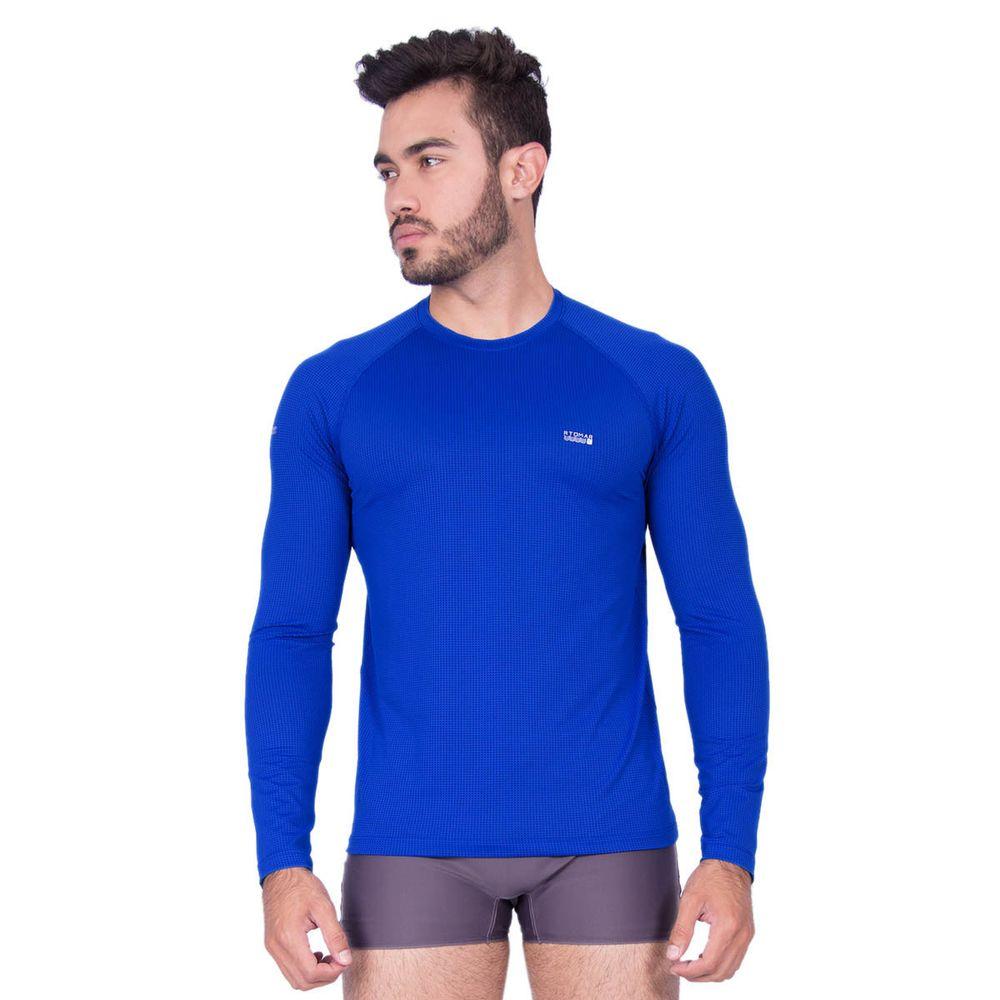 Camiseta Manga Longa Masculina Com Proteção UV 50+ Dry - Rota do Mar 1216be8ab09e1