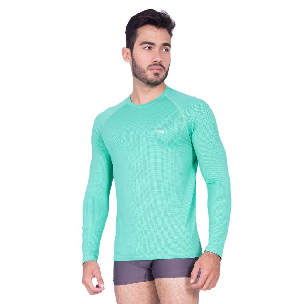 42089ad5f Camiseta Manga Longa Masculina Com Proteção UV 50+ Dry - Rota do Mar