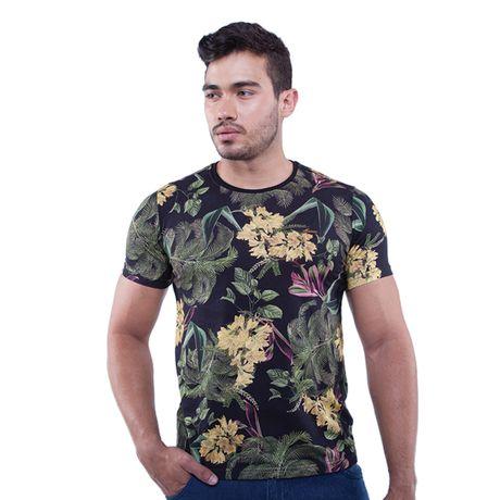 Camiseta-Manga-Curta-Estampa-Jardim-Noturno