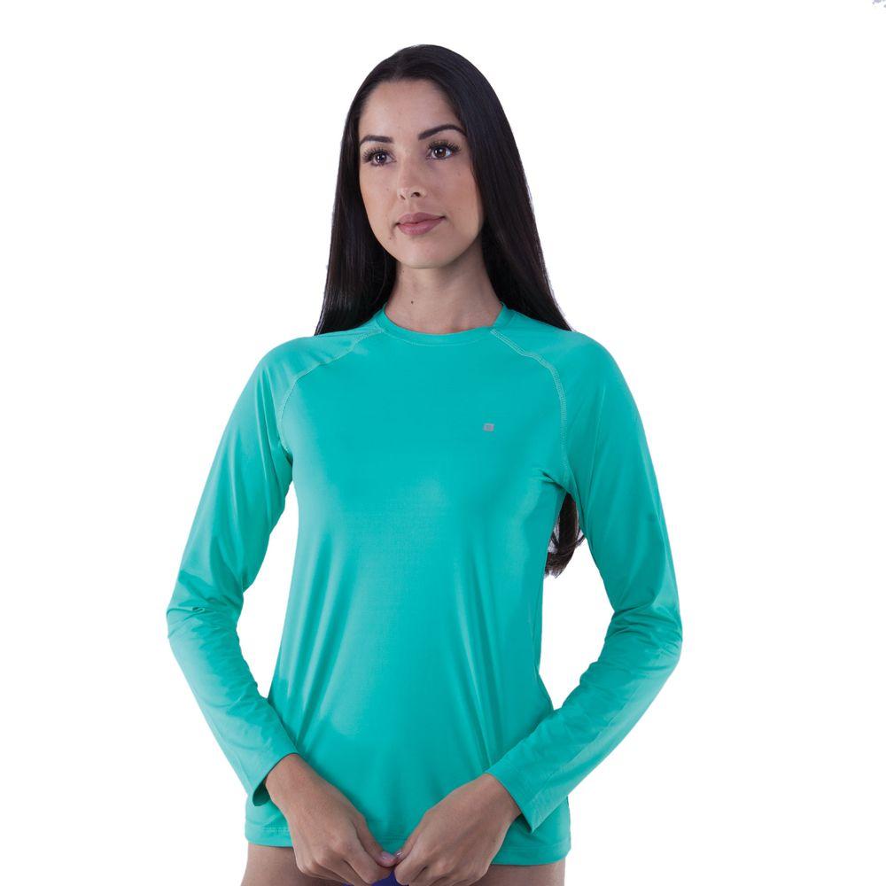 5668f908bfd2f Camiseta Manga Longa Feminina Com Proteção UV 50+ - Rota do Mar