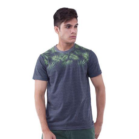 Camiseta-Manga-Curta-Listra-Folhagens