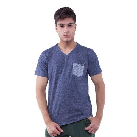 Camiseta-Manga-Curta-Gola-V-com-Bolso
