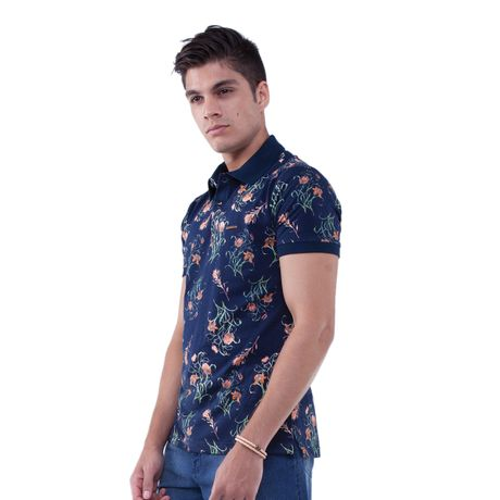 Camisa-Polo-Flowers-Red