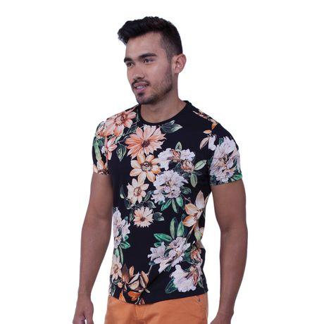 Camiseta-Manga-Curta-Estampa-Floral
