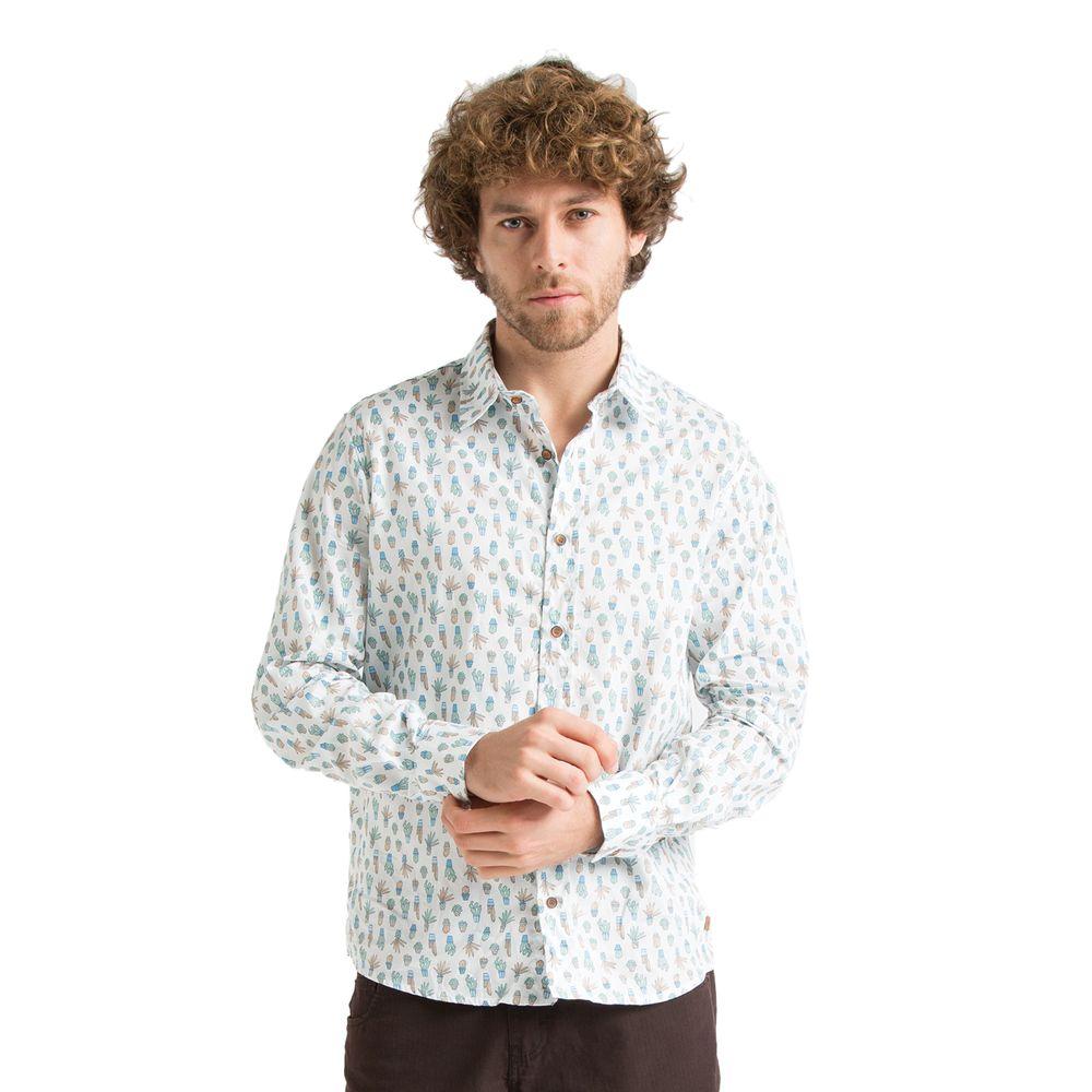Camisa Manga Longa Estampa Cactus - Rota do Mar b2cdc5db0abca