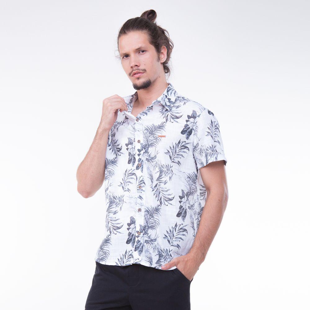 771406df9 Proteção Solar. Boné UV · Camiseta UV · Outlet · Rota do Mar · Masculino ·  Camisa. Camisa-Manga-Curta-Tropicalismo ...