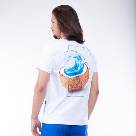 Camiseta-Manga-Curta-Estampa-Agua-de-Coco
