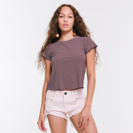 360064-Camiseta-Curta-Micro-Listras-Clonney-vinho-frente