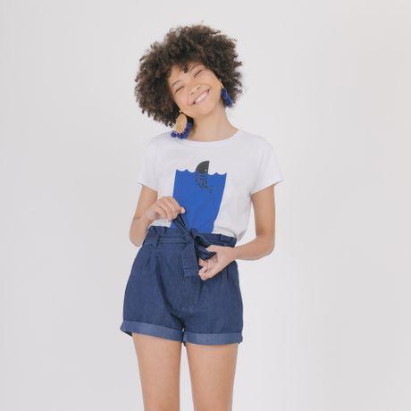 Camiseta-Manga-Curta-Branco-Baleia-
