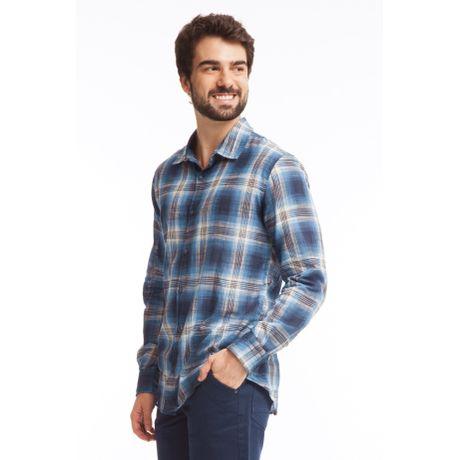 237073-Camisa-Manga-Longa-Xadrex-Azul-frente